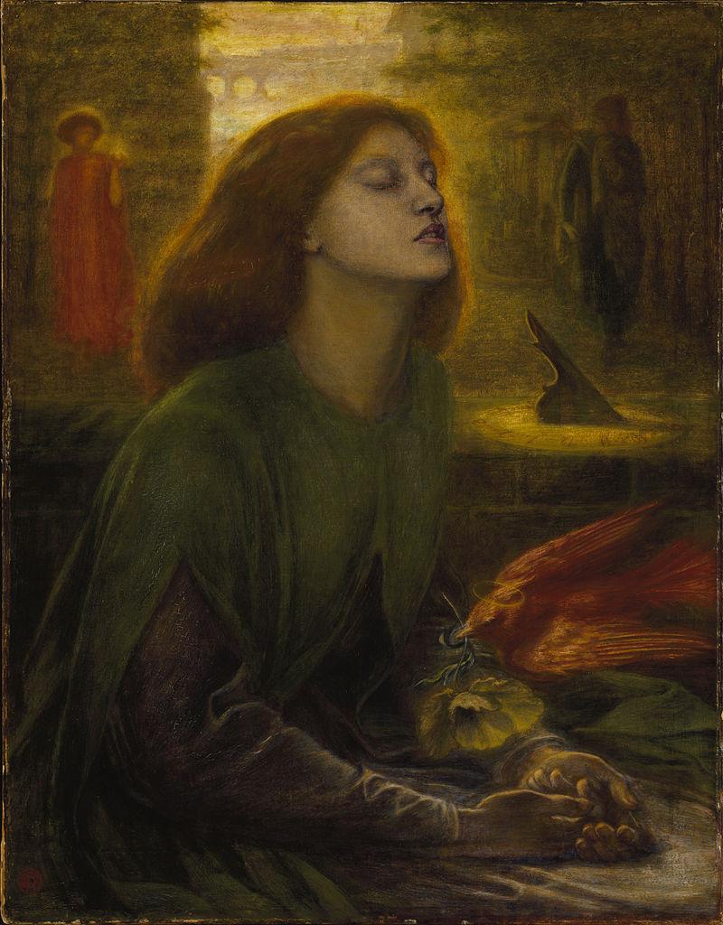 Dante Gabriel Rossetti ritrae la moglie Elizabeth Siddal nell'opera Beata Beatrix