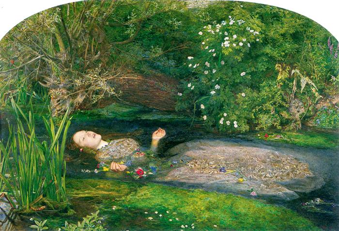 Elizabeth Siddal nei panni di Ofelia - John Everett Millasi