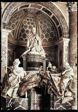 Gian Lorenzo Bernini - Tomba di papa Alessandro VII (Roma, San Pietro in Vaticano, 1671-78) ok