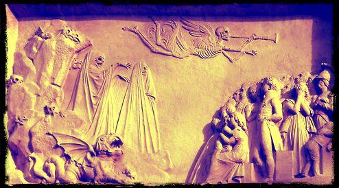 Etienne-Gaspard Robertson tomba -dettaglio - Pere Lachaise, Paris