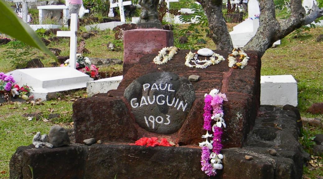 La tomba di Gauguin presso l'isola di nell'isola di Hiva Oa