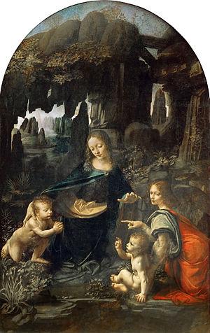 Leonardo Vergine delle rocce - Louvre