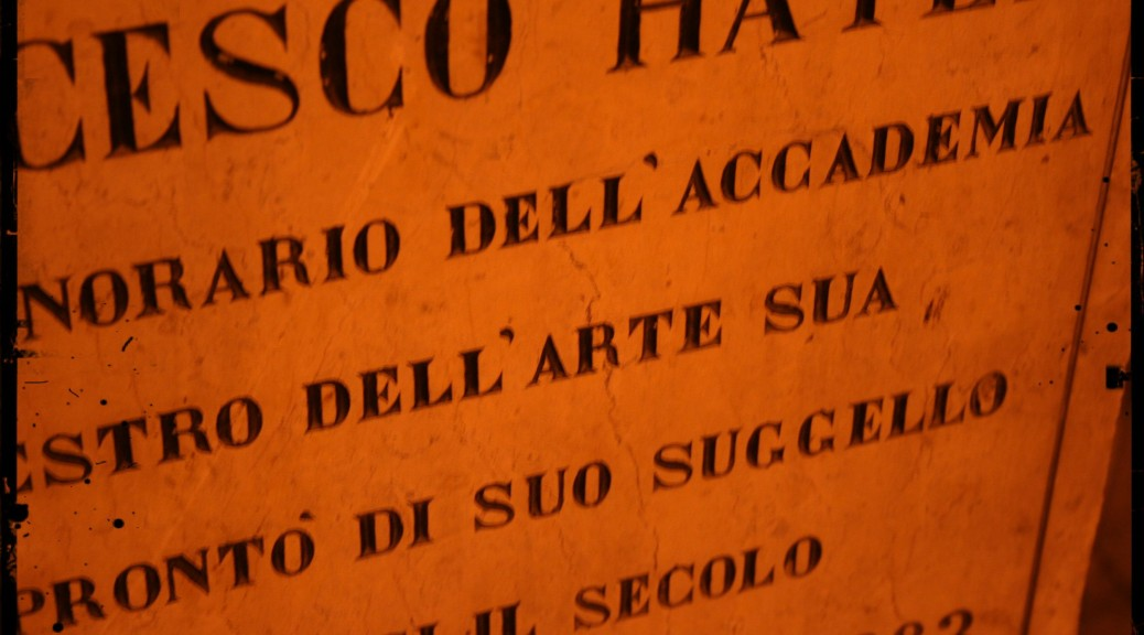 Tomba di Francesco Hayez - Famedio - Cimitero Monumentale di Milano
